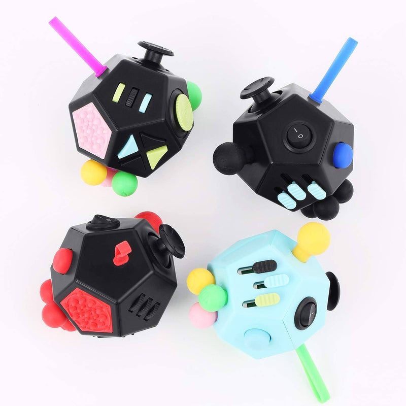 Fidget Dodecagon –12-Side Fidget Cube Relieves Stress and Anxiety Anti Depression Cube Toys & Games - DailySale
