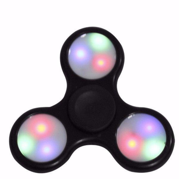 Fidget Spinner Stress and Anxiety Reliever Toy - Assorted Colors and Styles Toys & Games Black LED - DailySale