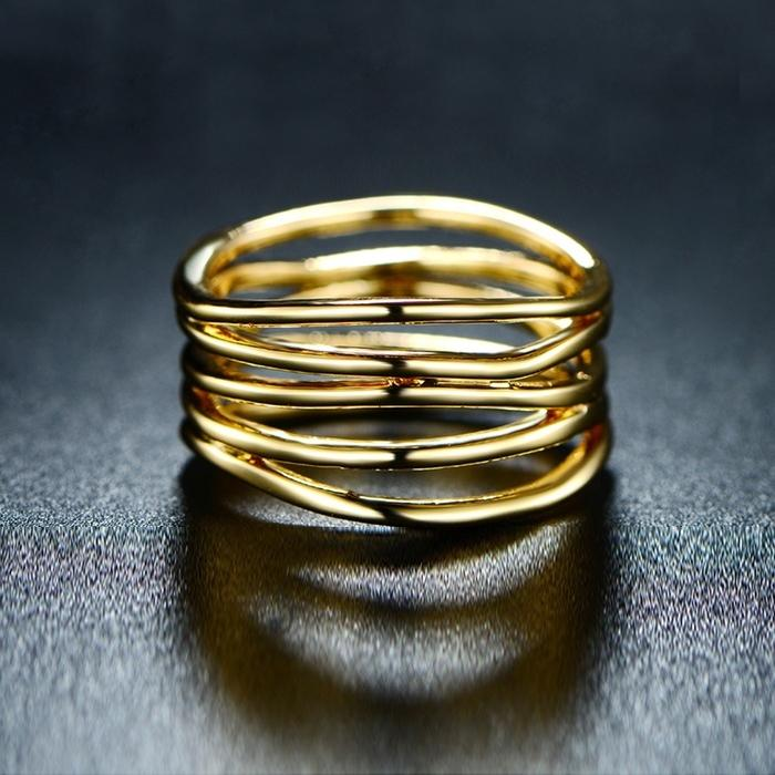 Five Layer Stack Ring in 18K Gold Plating - Assorted Sizes Jewelry 6 - DailySale