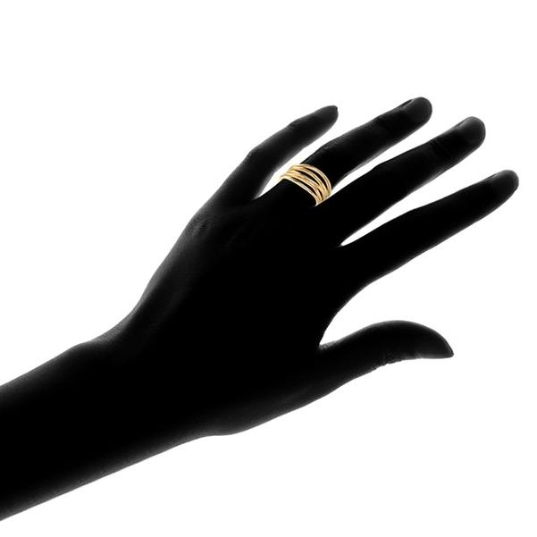 Five Layer Stack Ring in 18K Gold Plating - Assorted Sizes Jewelry - DailySale