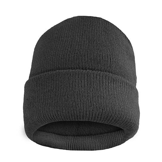 Fleece Lined Fold Over Thermal Winter Hat Men's Accessories Gray - DailySale