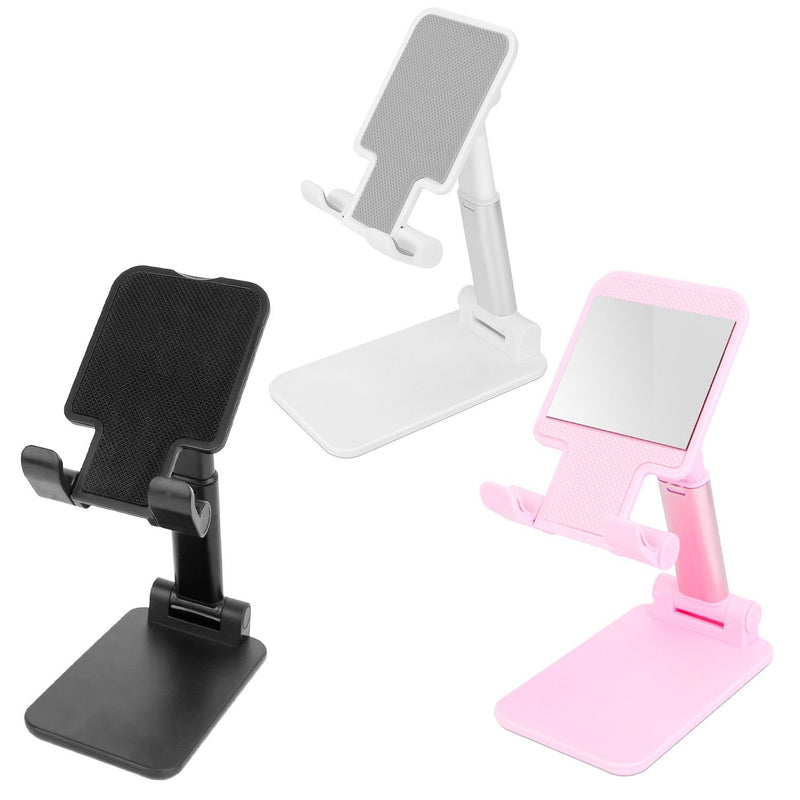 Foldable Desktop Phone Stand Angle Height Adjustable Holder Mobile Accessories - DailySale