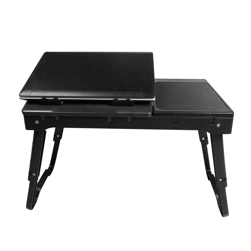 Foldable Laptop Table Bed Notebook Desk with Cooling Fan Mouse Board Computer Accessories - DailySale