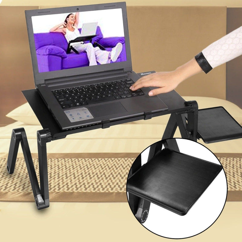 Foldable Laptop Table Bed Notebook Desk with Mouse Board Gadgets & Accessories - DailySale