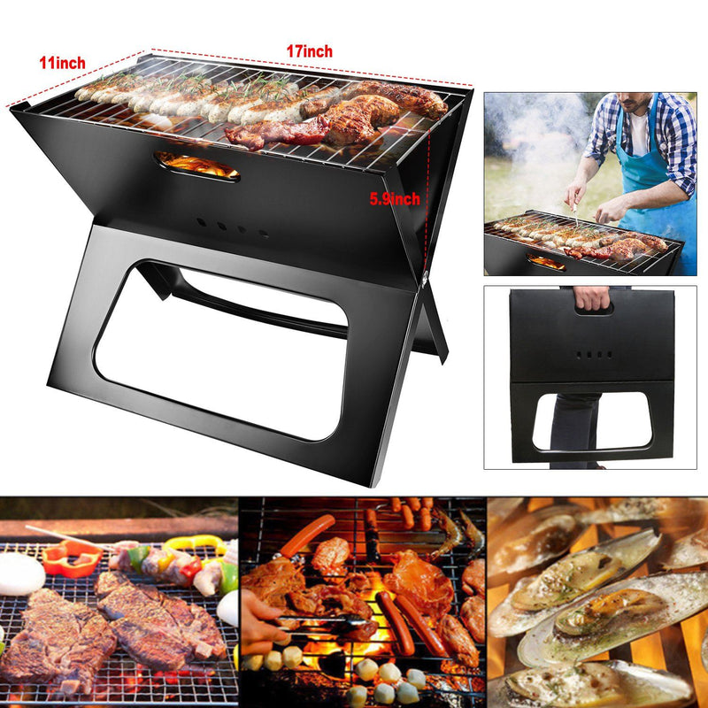 Foldable Portable BBQ Barbecue Grill Garden & Patio - DailySale