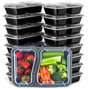 Food Storage Lunch Meal Prep Container Kitchen Essentials Double 20-Piece - DailySale