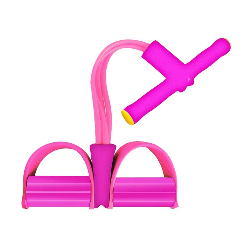 Four Tube Home Rope Pedal Exerciser Fitness Pink - DailySale