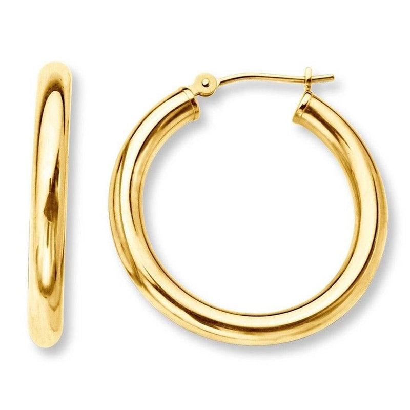 French Lock Hoop Earrings in Solid 14K Gold Jewelry - DailySale