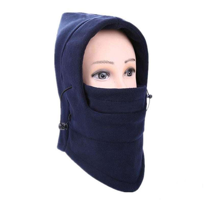 Full Cover Fleece Winter Mask - Assorted Colors Women's Apparel Navy Blue - DailySale