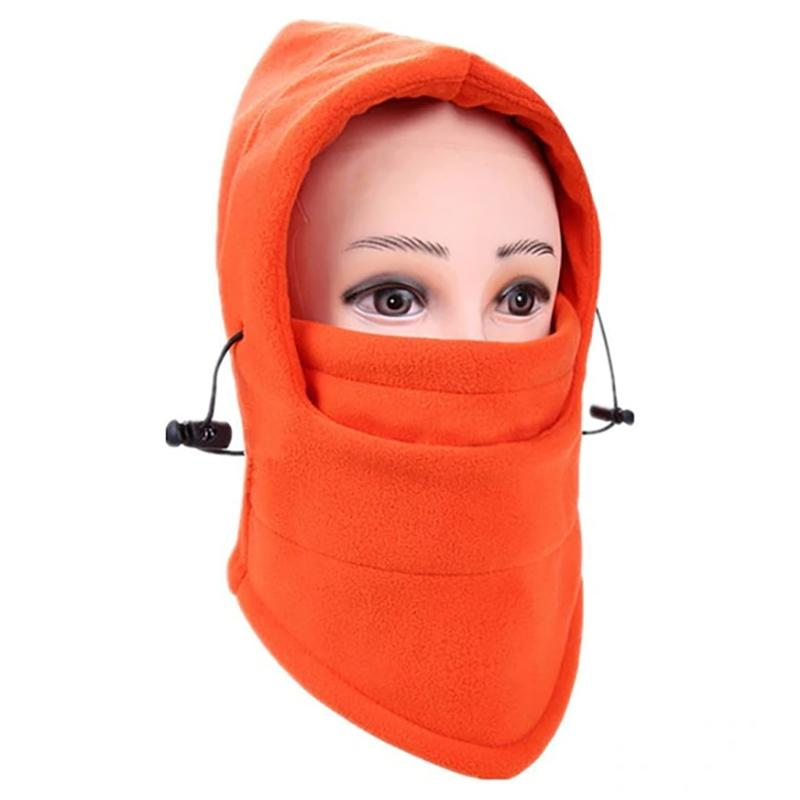 Full Cover Fleece Winter Mask - Assorted Colors Women's Apparel Orange - DailySale
