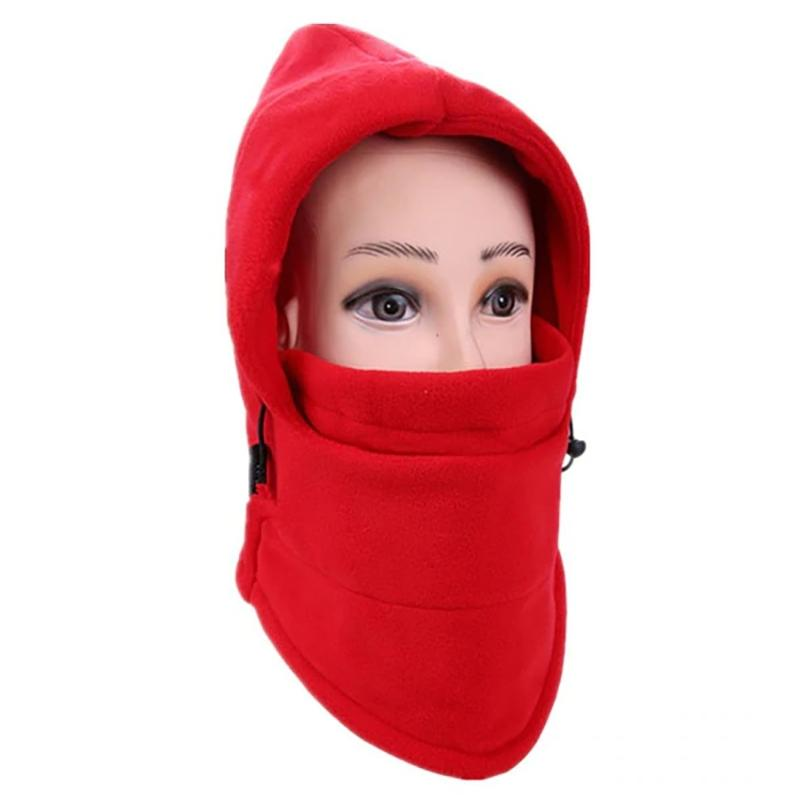 Full Cover Fleece Winter Mask - Assorted Colors Women's Apparel Red - DailySale