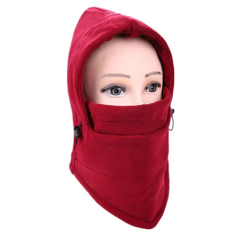 Full Cover Fleece Winter Mask - Assorted Colors Women's Apparel Wine - DailySale