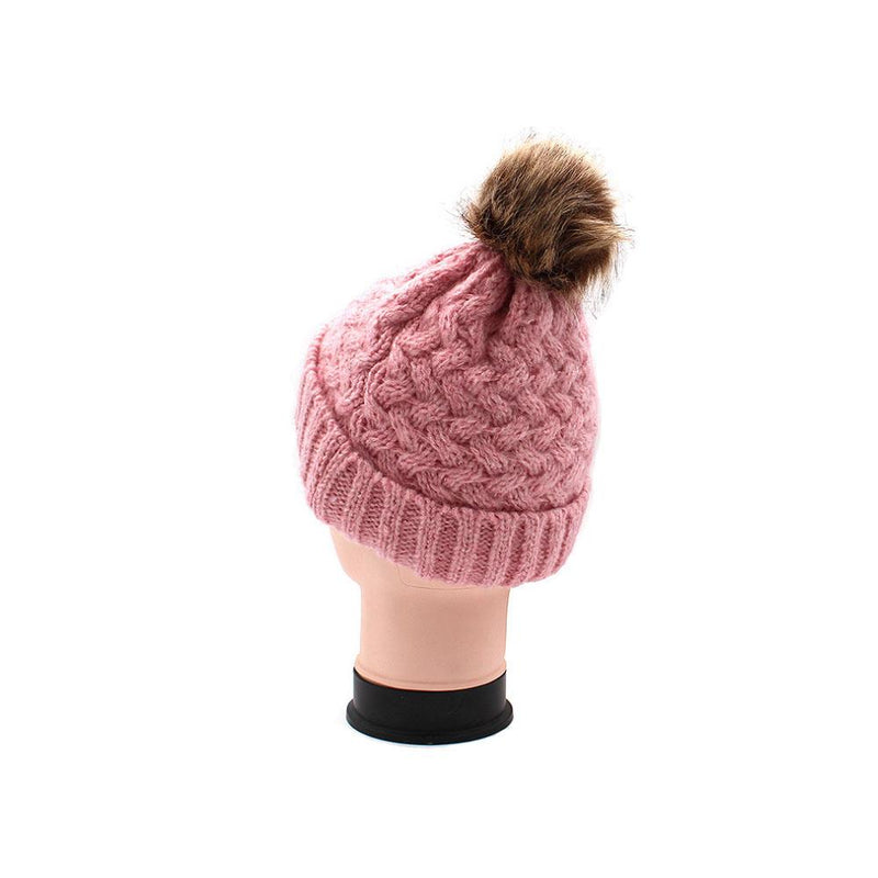 Fur Pom-Pom Toque Women's Accessories - DailySale