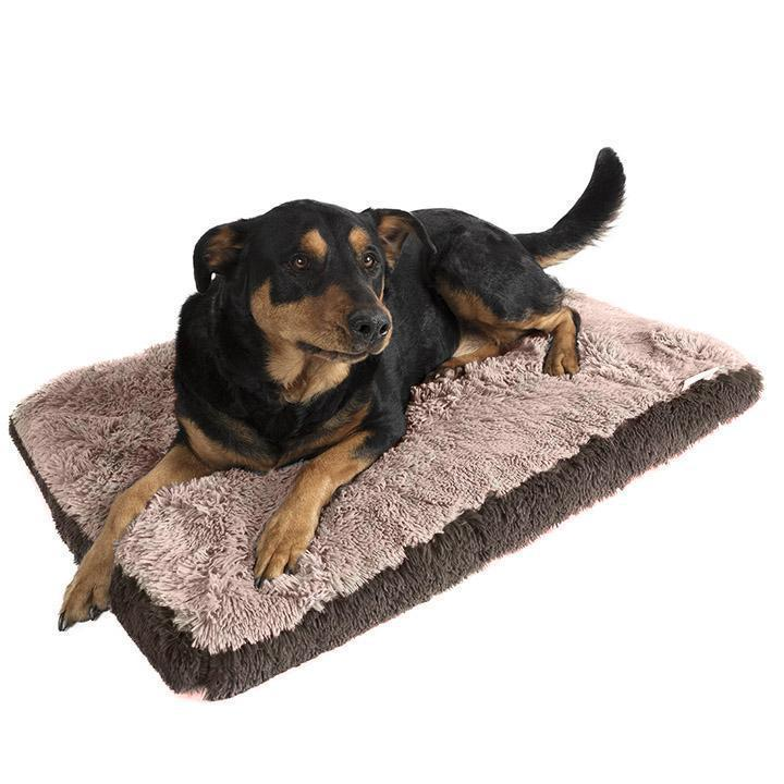 Fuzzy Pet Bed Pet Supplies L Beige - DailySale