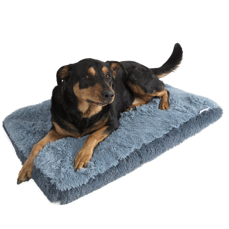 Fuzzy Pet Bed Pet Supplies L Blue - DailySale