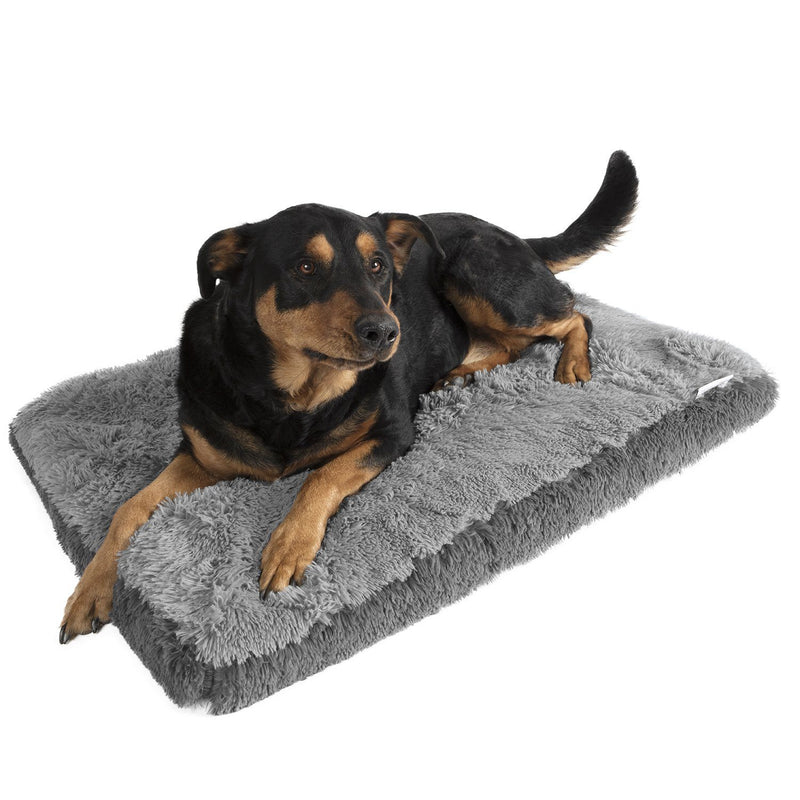 Fuzzy Pet Bed Pet Supplies L Gray - DailySale