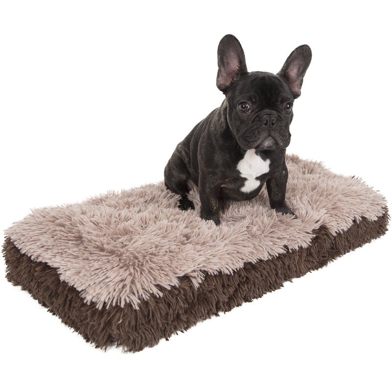 Fuzzy Pet Bed Pet Supplies S Beige - DailySale
