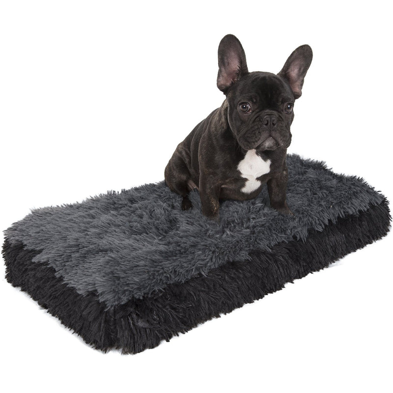 Fuzzy Pet Bed Pet Supplies S Black - DailySale