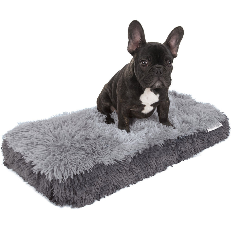 Fuzzy Pet Bed Pet Supplies S Gray - DailySale