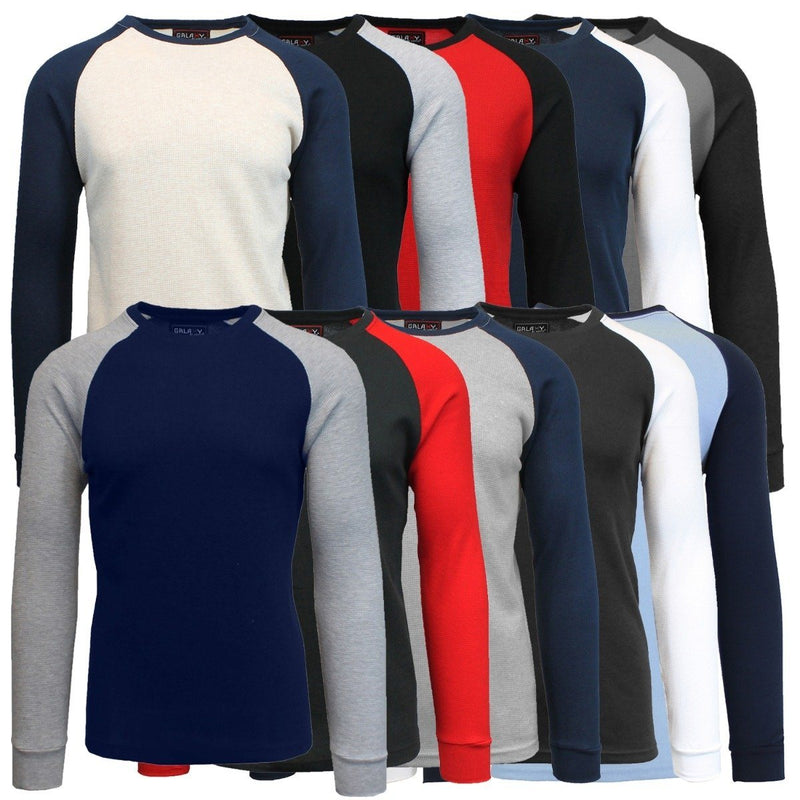 Galaxy by Harvic Men's Raglan Thermal Shirt - Assorted Sizes Men's Apparel - DailySale