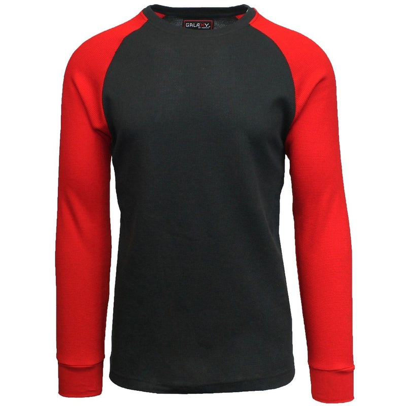 Galaxy by Harvic Men's Raglan Thermal Shirt - Assorted Sizes Men's Apparel S Black/Red - DailySale