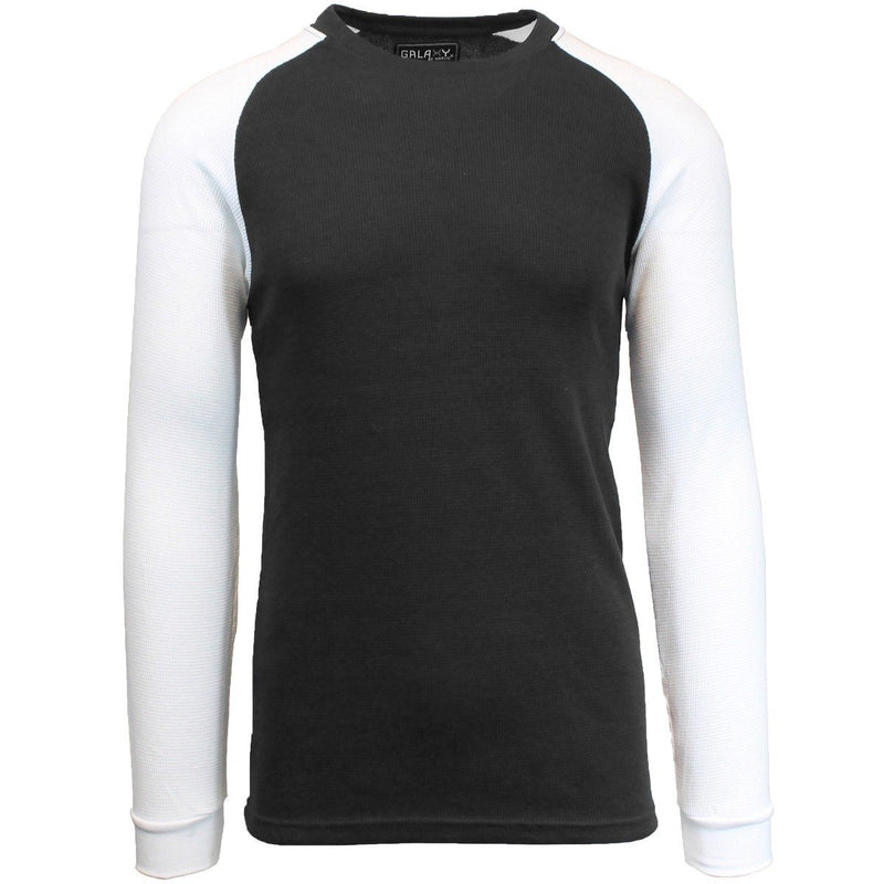 Galaxy by Harvic Men's Raglan Thermal Shirt - Assorted Sizes Men's Apparel S Black/White - DailySale