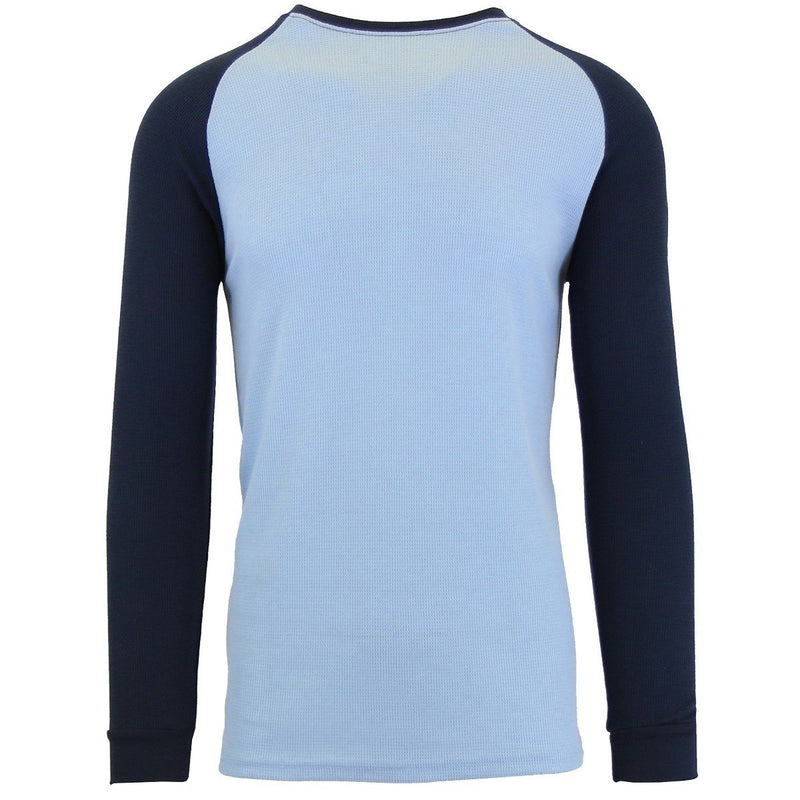 Galaxy by Harvic Men's Raglan Thermal Shirt - Assorted Sizes Men's Apparel S Blue/Navy - DailySale