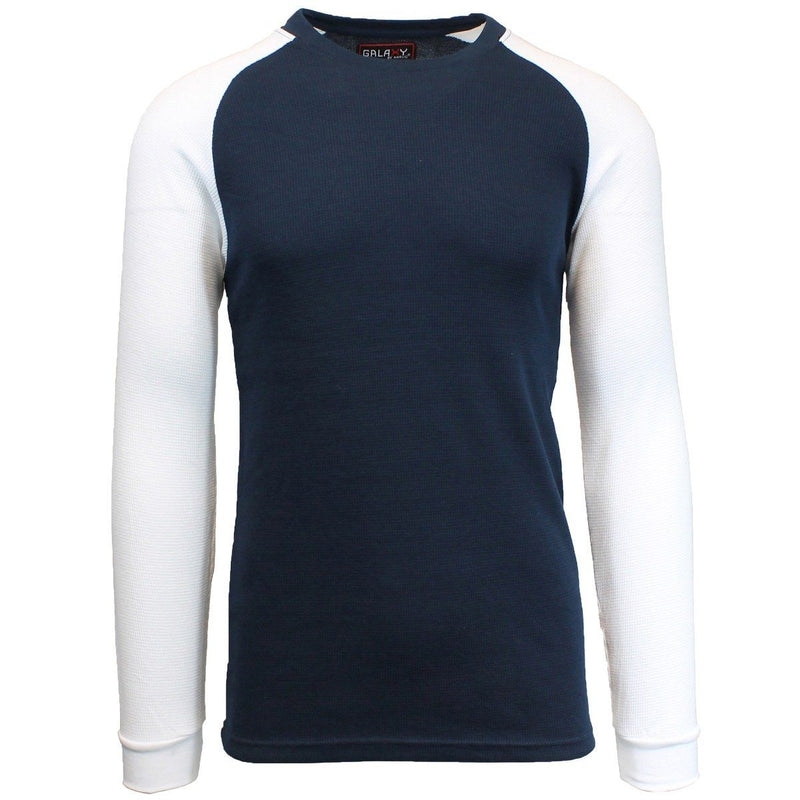 Galaxy by Harvic Men's Raglan Thermal Shirt - Assorted Sizes Men's Apparel S Navy/White - DailySale