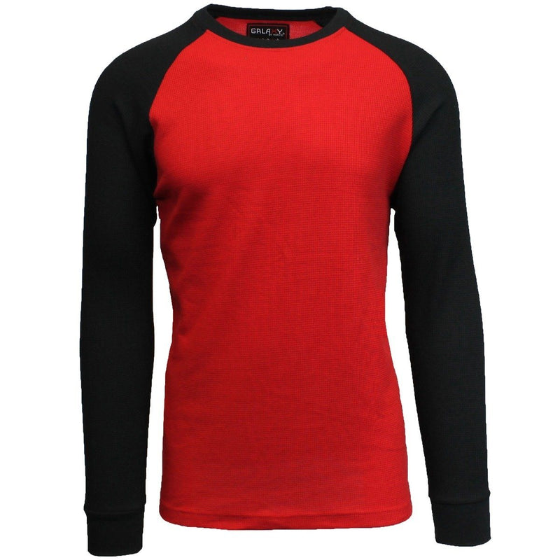 Galaxy by Harvic Men's Raglan Thermal Shirt - Assorted Sizes Men's Apparel S Red/Black - DailySale