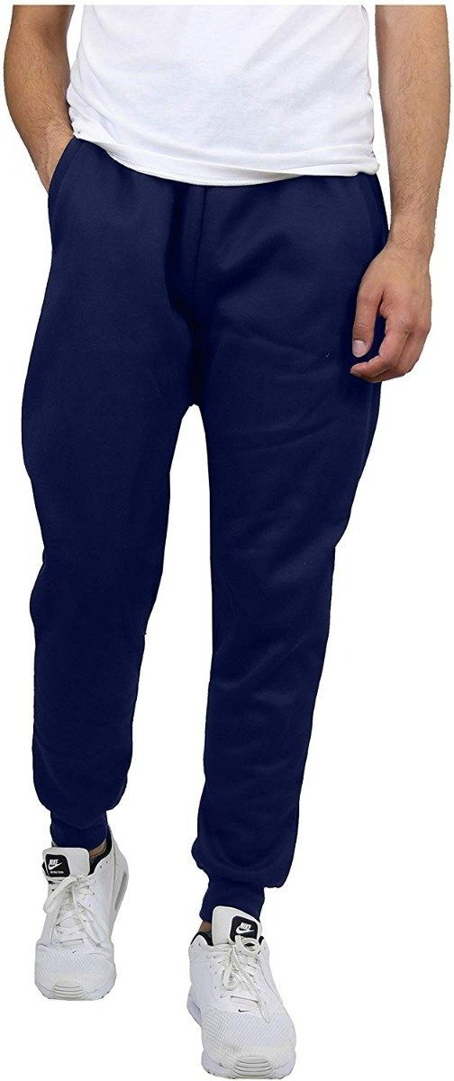 Galaxy By Harvic Men's Slim Fit Fleece Navy Jogger Pants - Size: Large Men's Apparel - DailySale