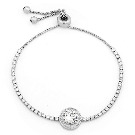 3.00 CTTW Adjustable Halo Tennis Bracelet - Assorted Colors - DailySale, Inc