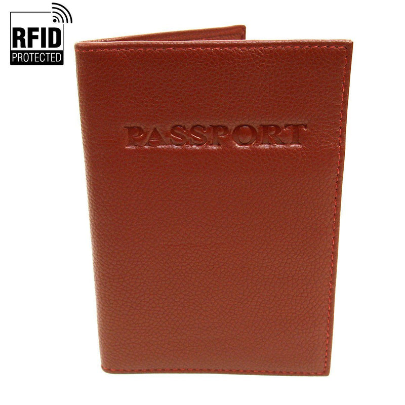 Genuine Leather RFID Passport Holder Handbags & Wallets Light Brown - DailySale