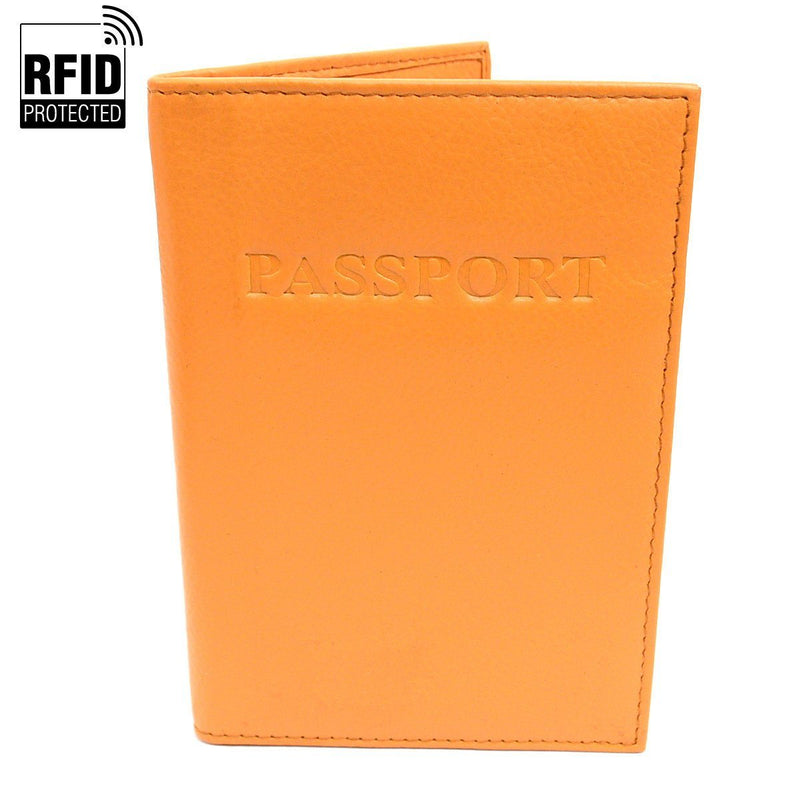 Genuine Leather RFID Passport Holder Handbags & Wallets Yellow - DailySale