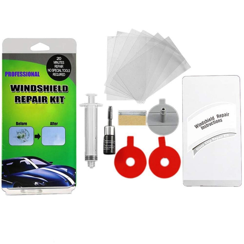 Gliston Geli Windshield Repair Kit Auto Accessories Green - DailySale
