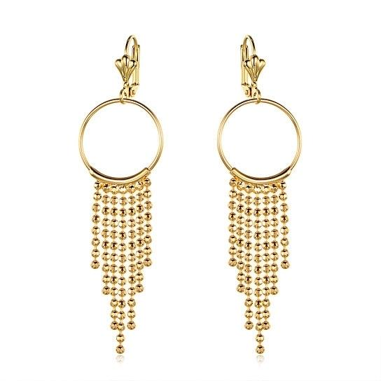 Gold Plated Chain Drop Hoop Earrings - Assorted Styles Jewelry No. 3 - DailySale
