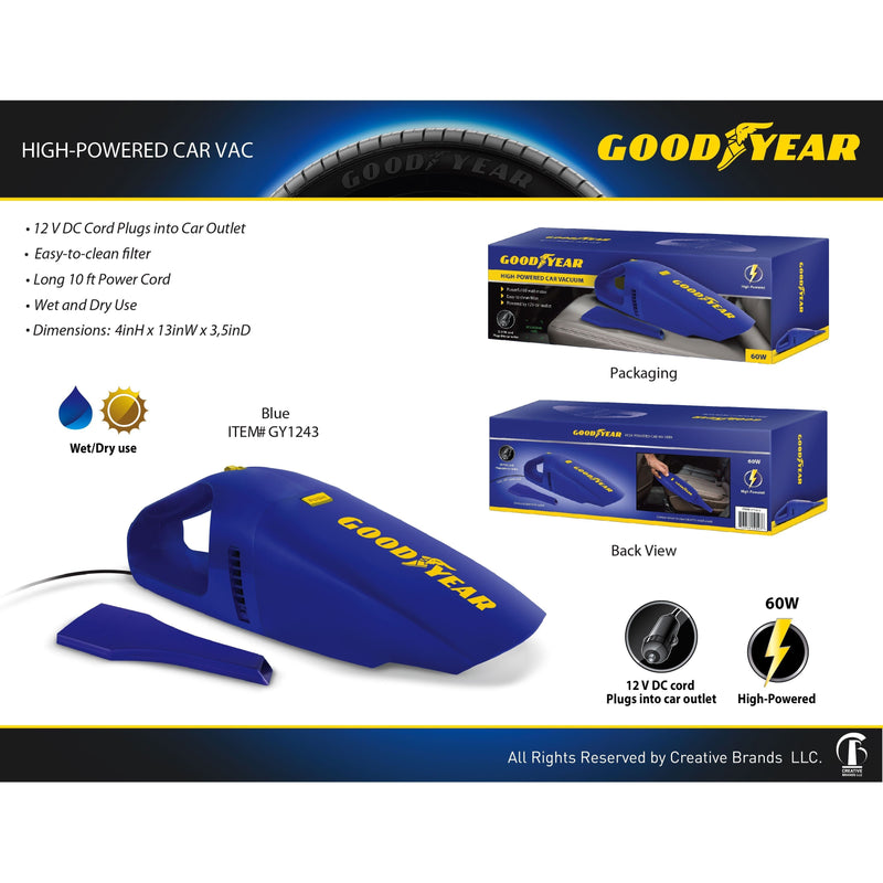 Goodyear High-Powered Car Vac Auto Accessories - DailySale