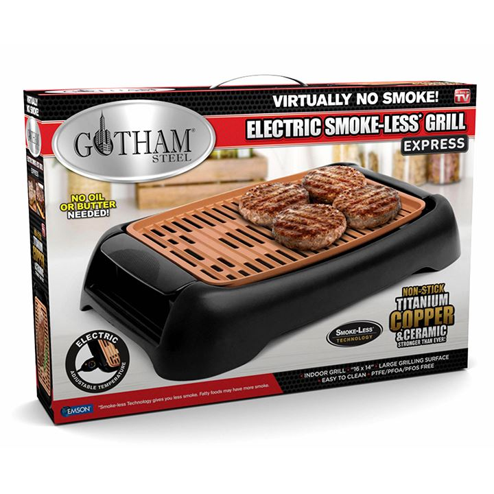 Gotham Steel Electric Smokeless Grill Express Kitchen Essentials - DailySale