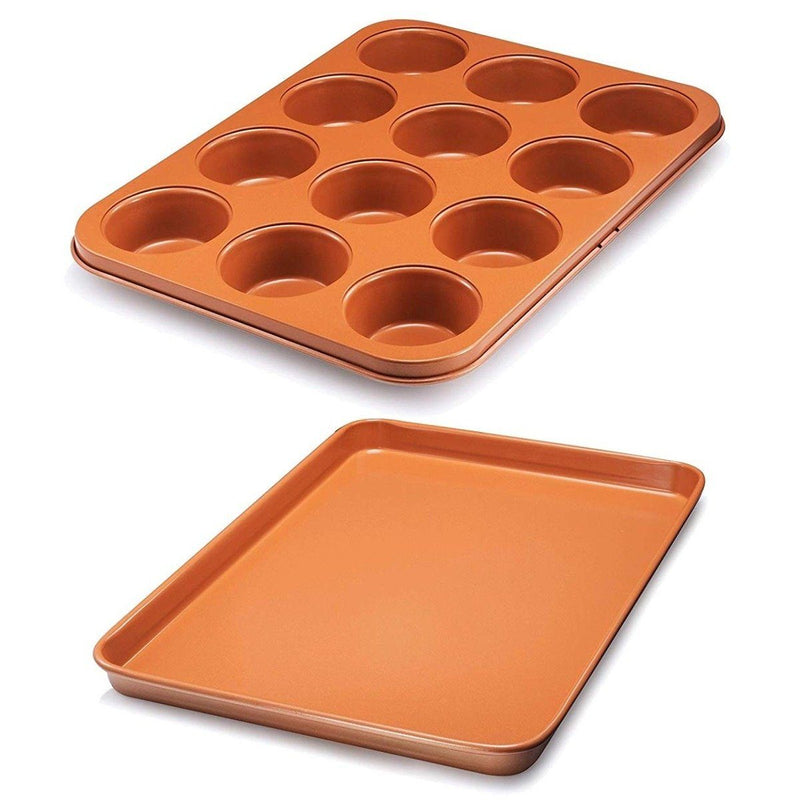 Gotham Steel Nonstick Baking Pan with Built-In Slicer Kitchen Essentials - DailySale