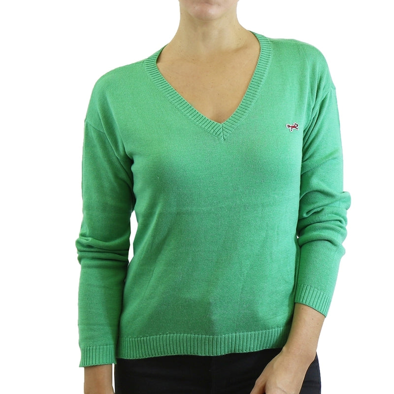 Womens V Neck Long Sleeve Sweater - Assorted Colors & Sizes - DailySale, Inc