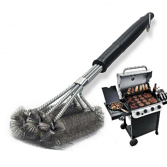 Grill Brush Stainless Steel Scrubber BBQ Cleaning Tool Garden & Patio - DailySale