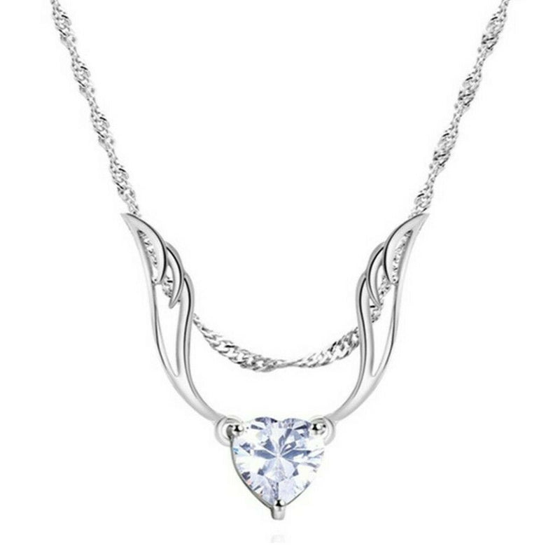 Guardian Angel Wing Necklace Made with Swarovski Crystal Jewelry - DailySale