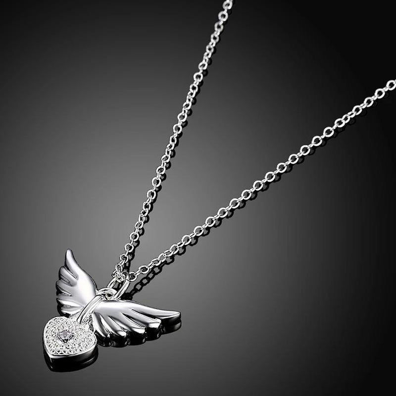 Guradian Angel Necklace in 18K White Gold Plated Jewelry - DailySale