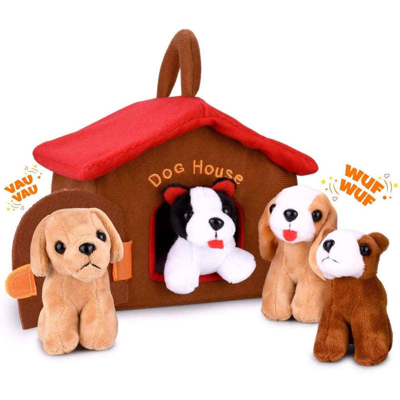 Hakol Dog House With Puppies Toy Set Toys & Games - DailySale