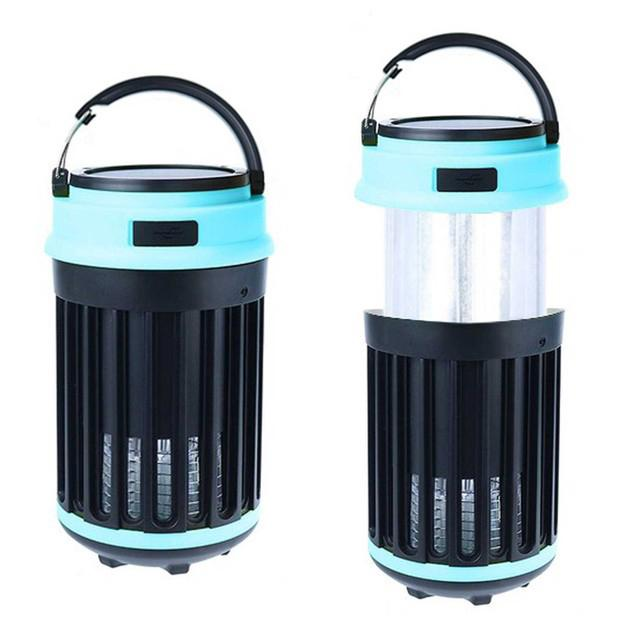 Hakol Outdoor Solar Powered LED Rechargeable Mosquito Zapper Lantern Sports & Outdoors - DailySale