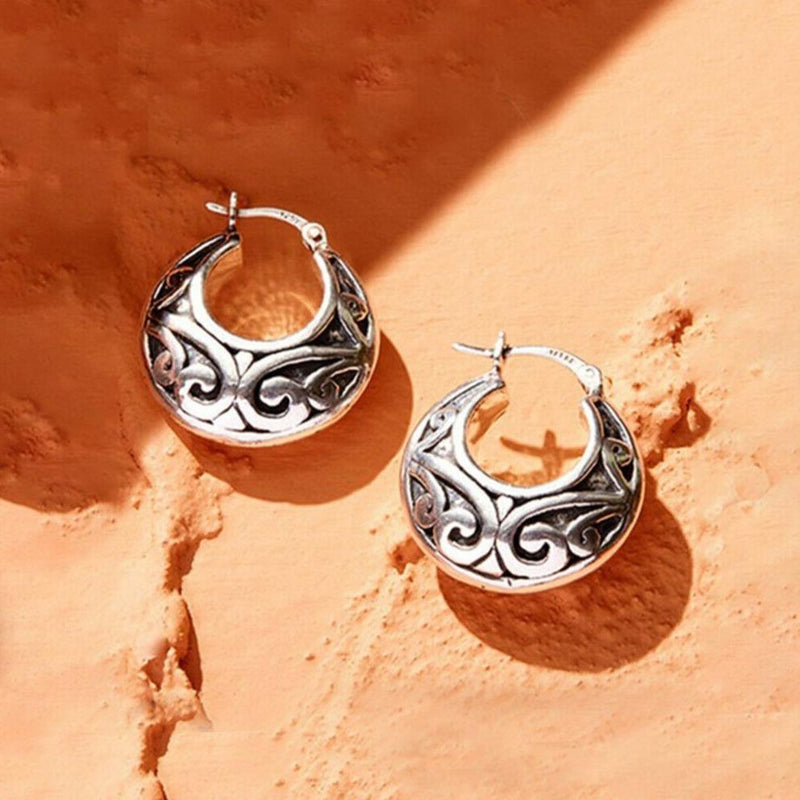 Handcrafted Sterling Silver Hoop Earrings by Verona Jewelry - DailySale