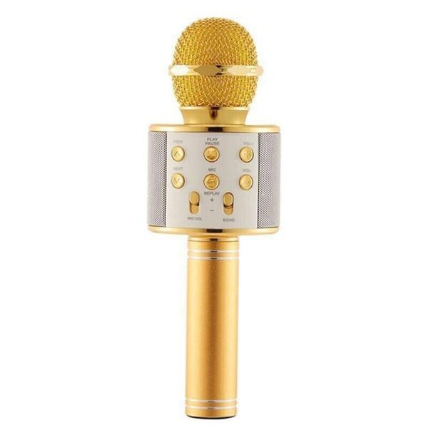 Handheld Wireless Bluetooth Microphone Everything Else Gold - DailySale