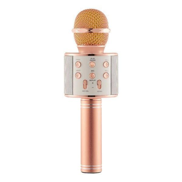 Handheld Wireless Bluetooth Microphone Everything Else Rose Gold - DailySale