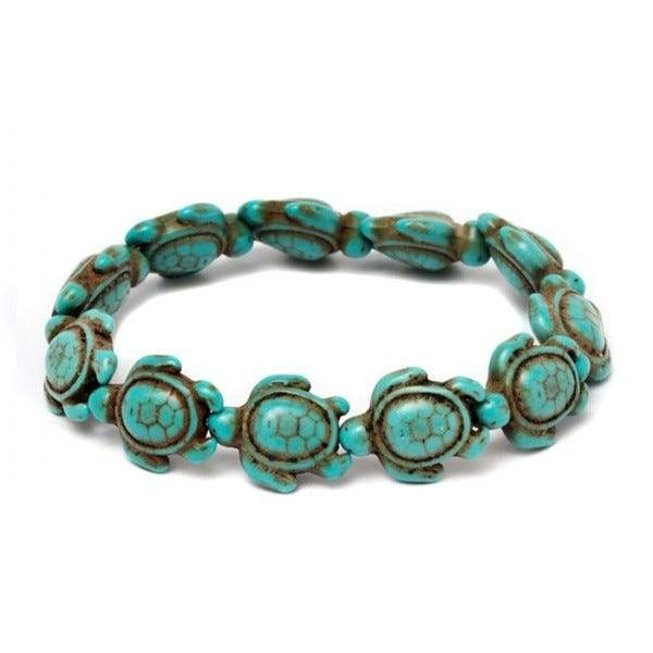 Handmade Hawaiian Turquoise Sea Turtles Bracelet Jewelry - DailySale