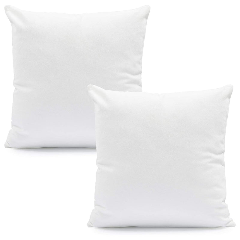 Hannah Linen Hypoallergenic Throw Pillows - White Bed & Bath 2-Pack - DailySale