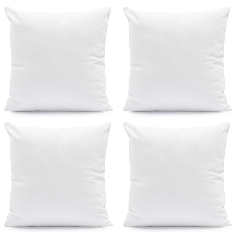Hannah Linen Hypoallergenic Throw Pillows - White Bed & Bath 4-Pack - DailySale